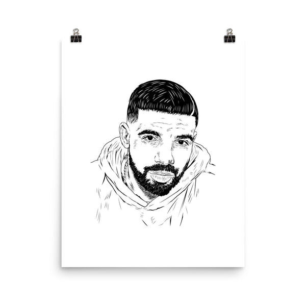 Drake 6 god Art Poster (6 sizes) // Babes & Gents // www.babesngents.com