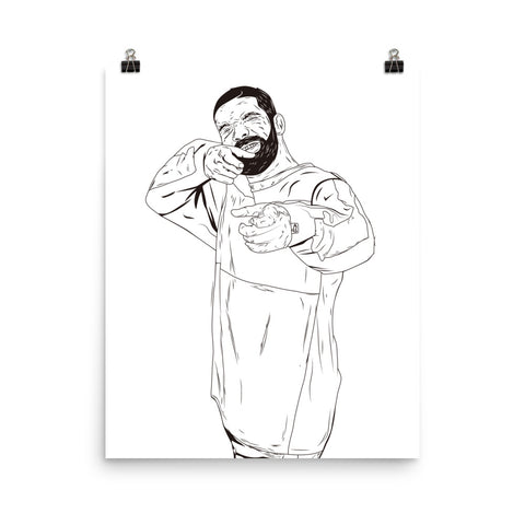 Drake 6 God Shooter 11x17 Art Poster