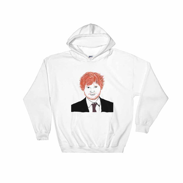 Ed Sheeran White Hoodie Sweater (Unisex) , Babes & Gents, Ottawa
