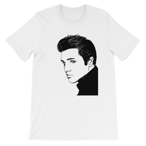 Elvis Presley White Tee (Unisex) // T-shirt // Babes & Gents // www.babesngents.com