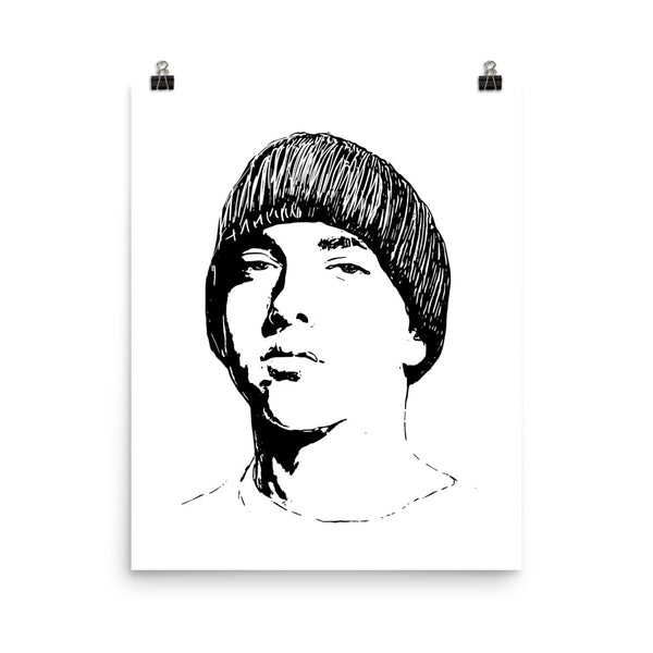 Eminem 2 Art Poster (8x10 to 24x36) // Babes & Gents // www.babesngents.com