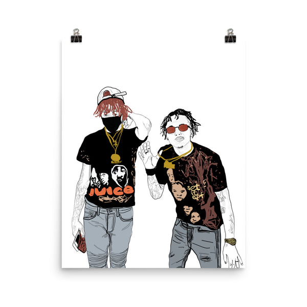 Famous Dex and Rich the Kid Art Poster (6 sizes) // Babes & Gents // www.babesngents.com