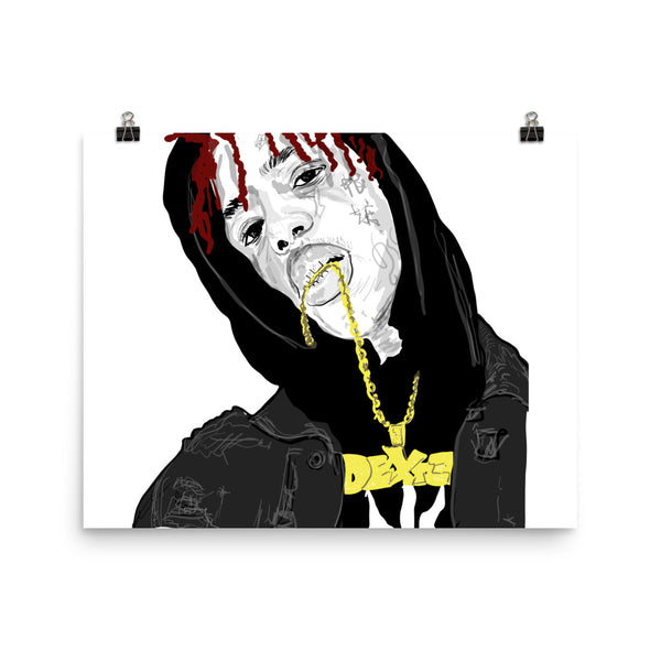 Famous Dex Art Poster (6 sizes) // Babes & Gents // www.babesngents.com
