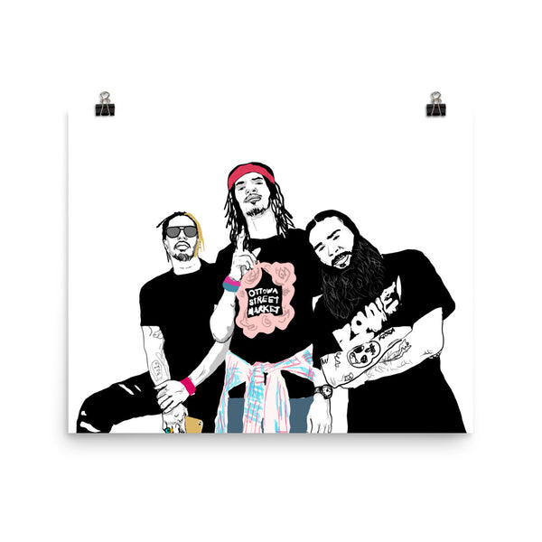 Flatbush Zombies Art Poster (6 sizes) // Babes & Gents // www.babesngents.com