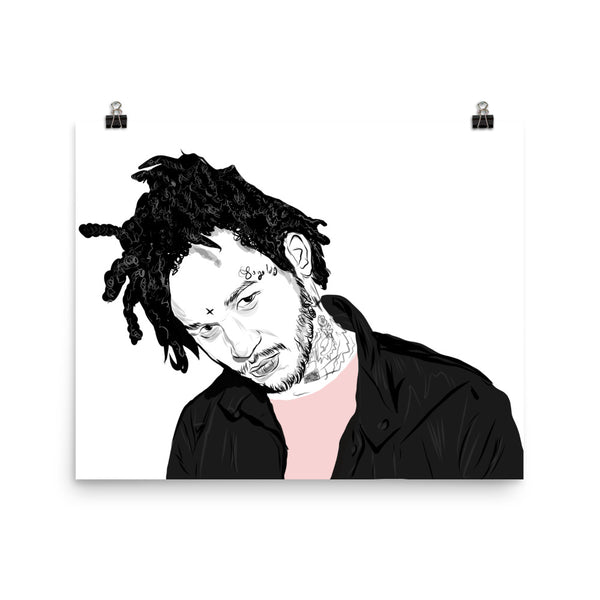 Fredo Santana Art Poster (6 sizes) // Babes & Gents // www.babesngents.com