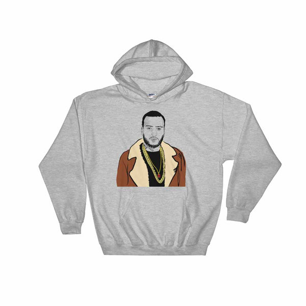 French Montana Grey Hoodie Sweater (Unisex) , Babes & Gents, Ottawa