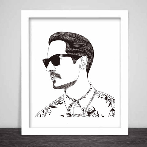 G-Eazy Art Poster (3 sizes) // Geazy Young Gerald I mean it Tumblr Girls When its dark out