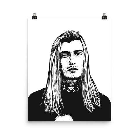 Ghostemane Art Poster (8x10 to 24x36)