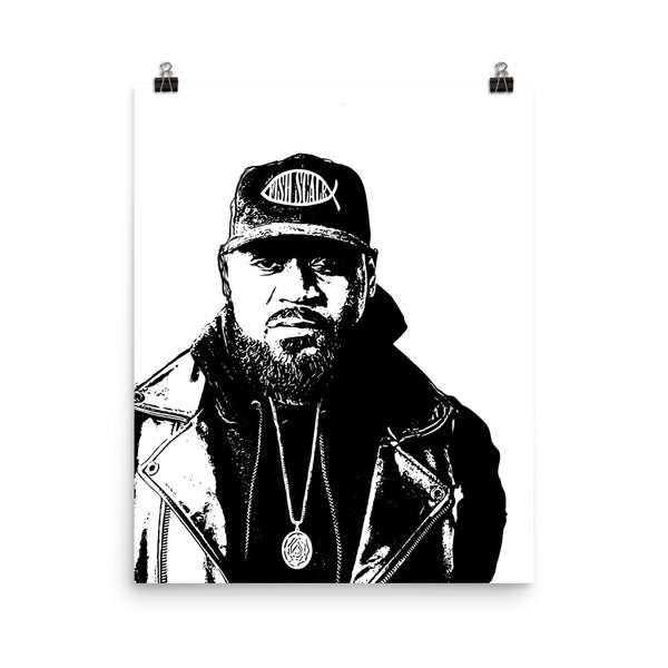 Ghostface Killah 11x17 Art Poster, Babes & Gents, www.babesngents.com