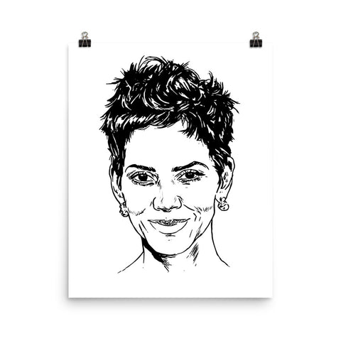 Halle Berry Art Poster (8x10 to 24x36)