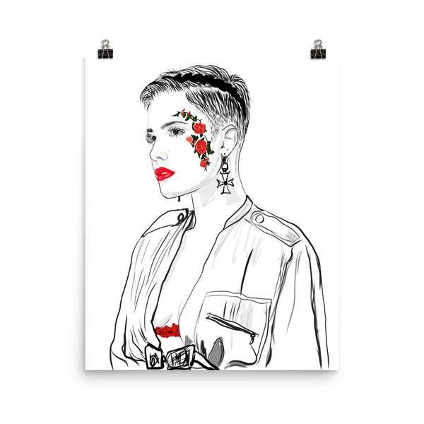 Halsey Art Poster (6 sizes) // Babes & Gents // www.babesngents.com