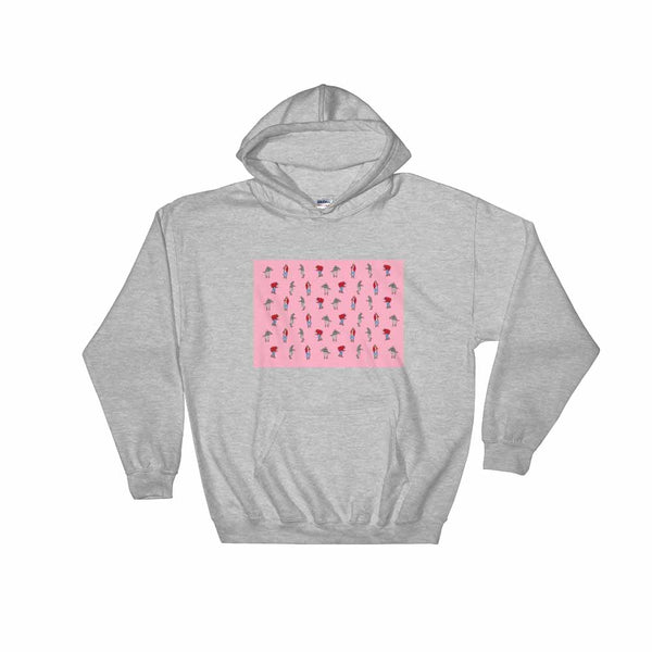 Hotline Bling (Pink) Grey Hoodie Sweater (Unisex) , Babes & Gents, Ottawa