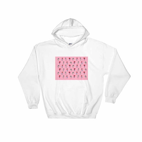 Hotline Bling (Pink) White Hoodie Sweater (Unisex)