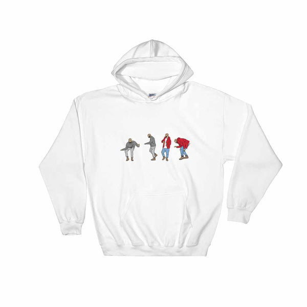 Drake Hotline bling dance White Hoodie Sweater (Unisex) , Babes & Gents, Ottawa