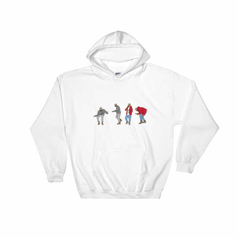 Drake Hotline bling dance White Hoodie Sweater (Unisex)