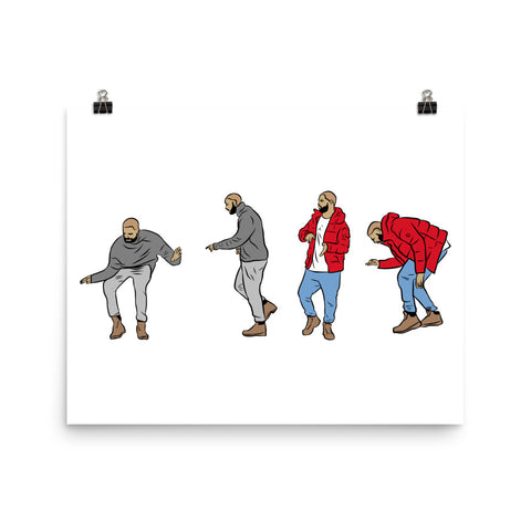 Drake Hotline Bling 11x17 Art Poster Dance Pattern