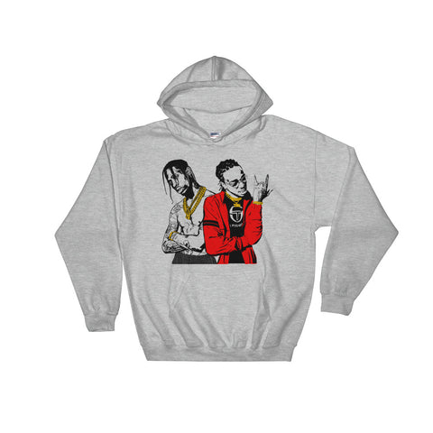 Huncho Jack Quavo and Travis Scott Grey Hoodie Sweater (Unisex)