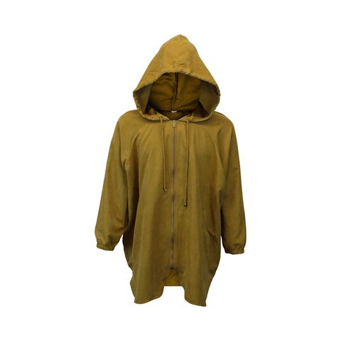 Rusted Gold Hooded Windbreaker Parka (Unisex)