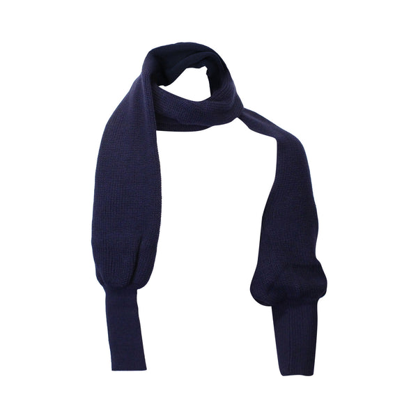 Navy Avant Garde Scarf with Sleeves (Unisex) // Zargara