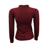 Maroon Knit Choker Sweater (Female) // Zargara