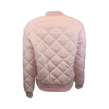 Pink Quilted Crop Bomber Jacket (Female) // Zargara