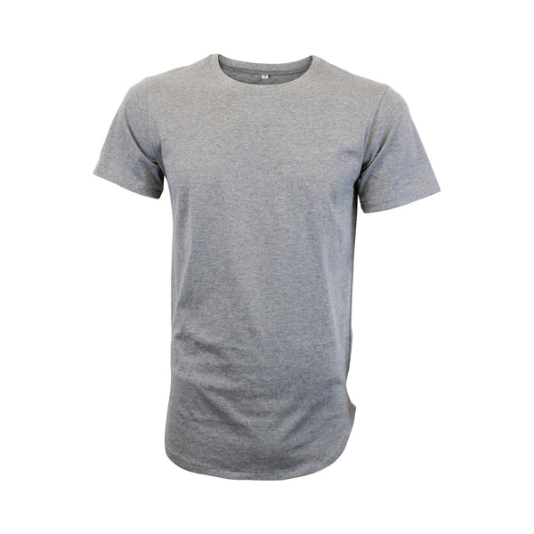Heather Grey Scoop Bottom Tee (Unisex) // Zargara