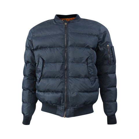 Navy Quilted Bomber Jacket (Unisex)