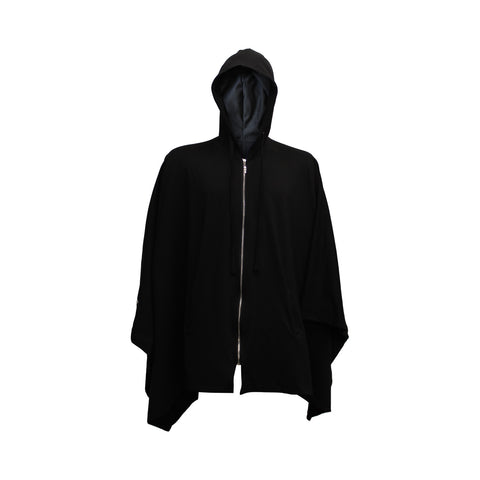 """We are in a Dreamworld"" Zip up Hooded Poncho"