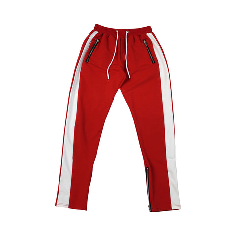 Red + White Stripes Track Pants (Unisex)