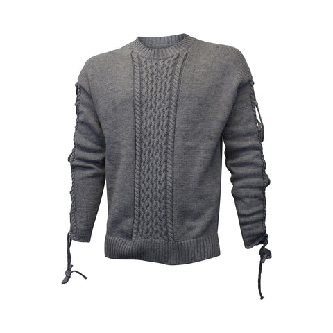 """Lost Highway, Way to Fast"" Grey Asylum Knit Sweater (Unisex)"