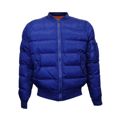 Royal Blue Quilted Bomber Jacket (Unisex)