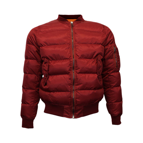Maroon Quilted Bomber Jacket (Unisex)