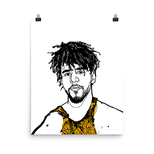 J. Cole Jcole KOD Art Poster (6 sizes) // Babes & Gents // www.babesngents.com