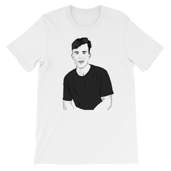 Jake Paul White Tee (Unisex) // T-shirt // Babes & Gents // www.babesngents.com