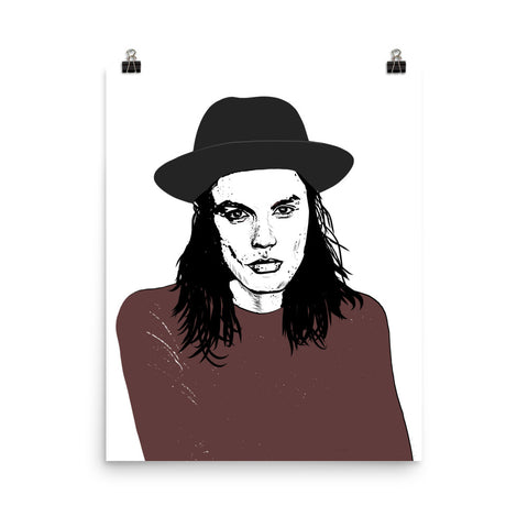 James Bay Art Poster (8x10 to 24x36)