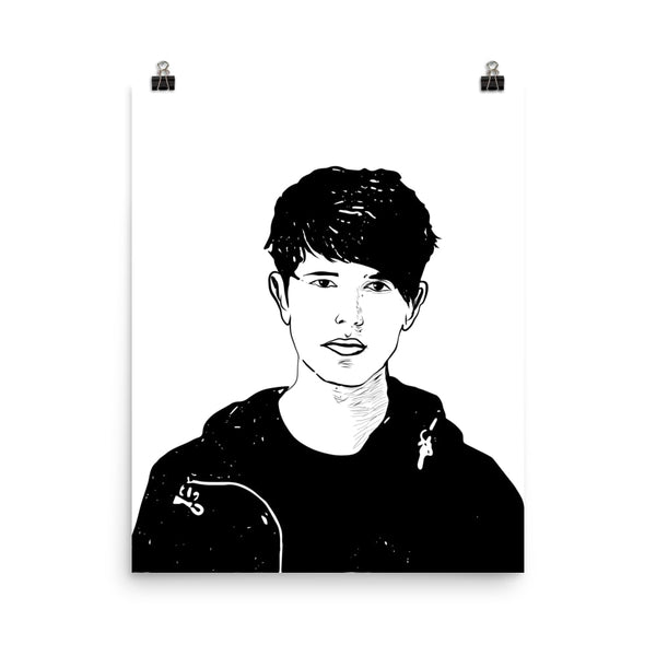 James Blake Art Poster (6 sizes) // Babes & Gents // www.babesngents.com