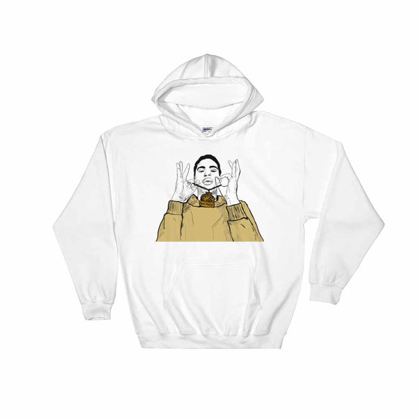 Jay Critch White Hoodie Sweater (Unisex), Babes & Gents, Ottawa