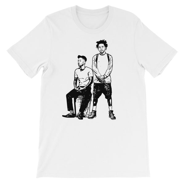 Jcole and Kendrick Lamar 2 White Tee (Unisex) // T-shirt // Babes & Gents // www.babesngents.com