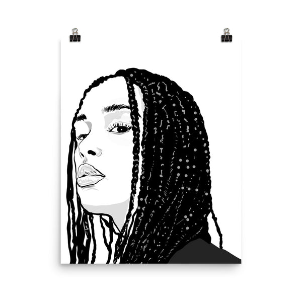 Jorja Smith Art Poster (6 sizes) // Babes & Gents // www.babesngents.com
