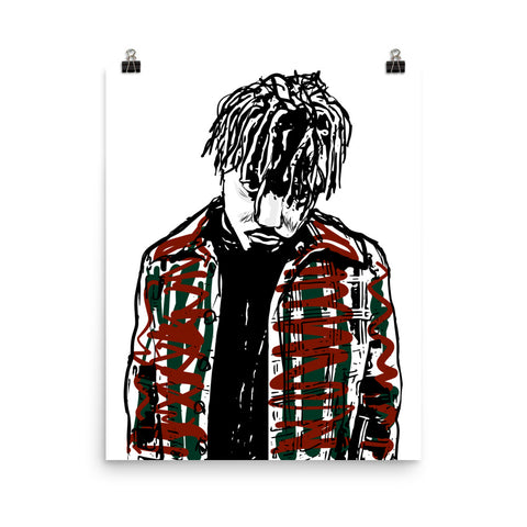 Juice Wrld Art Poster (8x10 to 24x36)