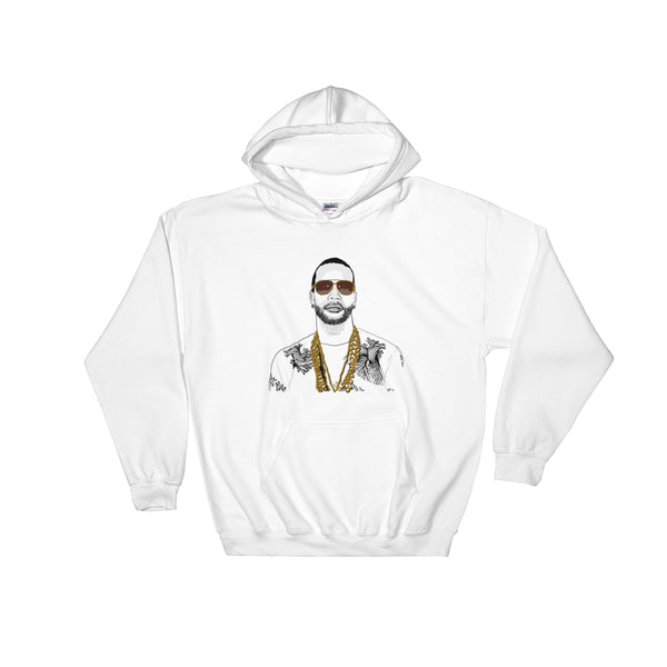 Juicy J White Hoodie Sweater (Unisex), Babes & Gents, Ottawa