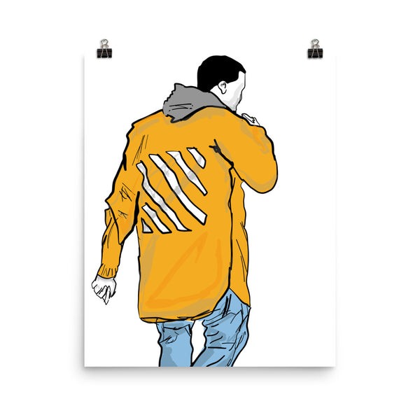Kanye West Yeezy in Off White Art Poster (6 sizes) // Babes & Gents // www.babesngents.com