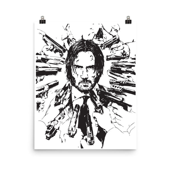 Keanu Reeves Art Poster (8x10 to 24x36) // Babes & Gents // www.babesngents.com