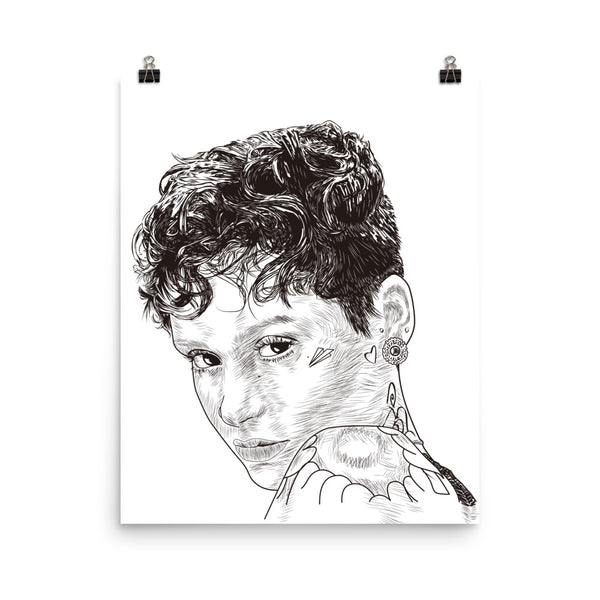 Kehlani Gangsta Art Poster (6 sizes) // Babes & Gents // www.babesngents.com