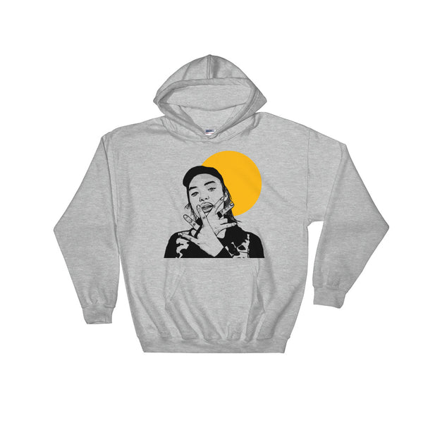 Keith Ape Grey Hoodie Sweater (Unisex), Babes & Gents, Ottawa