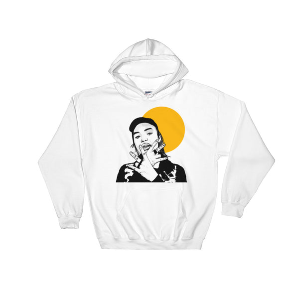 Keith Ape White Hoodie Sweater (Unisex), Babes & Gents, Ottawa