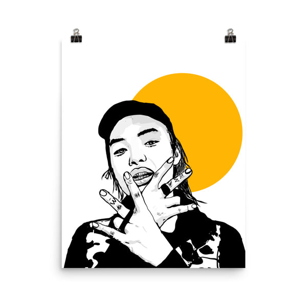 Keith Ape Art Poster (6 sizes) // Babes & Gents // www.babesngents.com