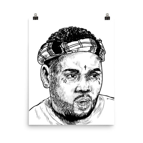 Kevin Gates BWA Art Poster (8x10 to 24x36)