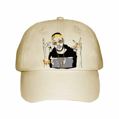 2 Chainz two Khaki Hat/Cap