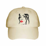 Rihanna Red Lips Khaki Hat/Cap